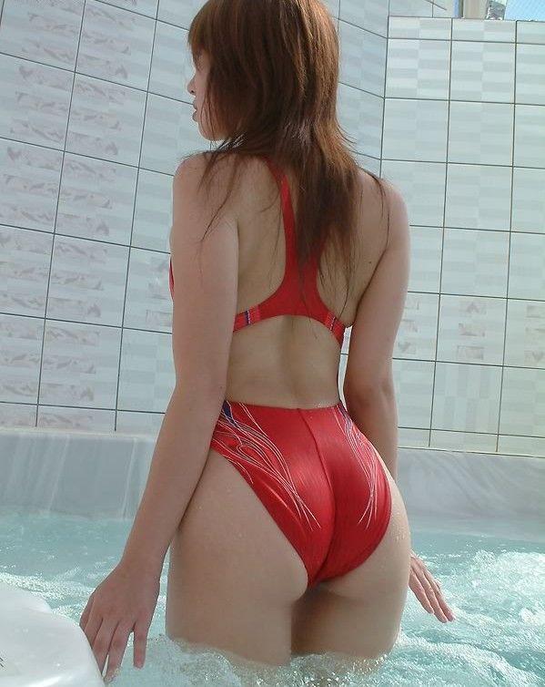 【競泳水着エロ画像】ヘタなビキニよりもエロくて草w競泳水着の女の子! 19