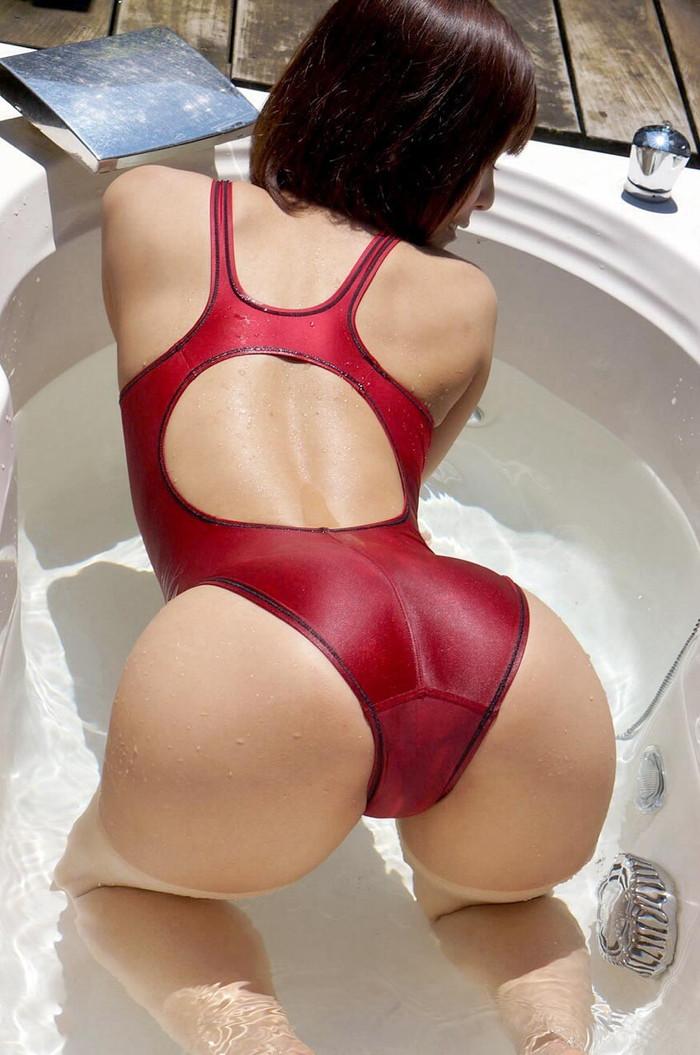 【競泳水着エロ画像】ヘタなビキニよりもエロくて草w競泳水着の女の子! 24