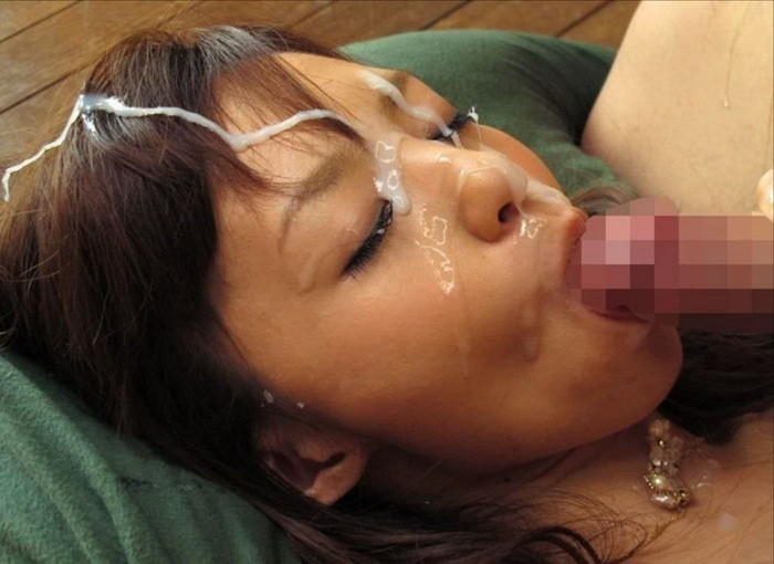 【顔射エロ画像】顔面ザーメンまみれ!顔射好きの男とセックスした女の末路ww 08