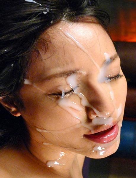 【顔射エロ画像】顔面ザーメンまみれ!顔射好きの男とセックスした女の末路ww 22