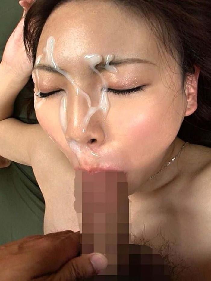 【顔射エロ画像】顔面ザーメンまみれ!顔射好きの男とセックスした女の末路ww 26