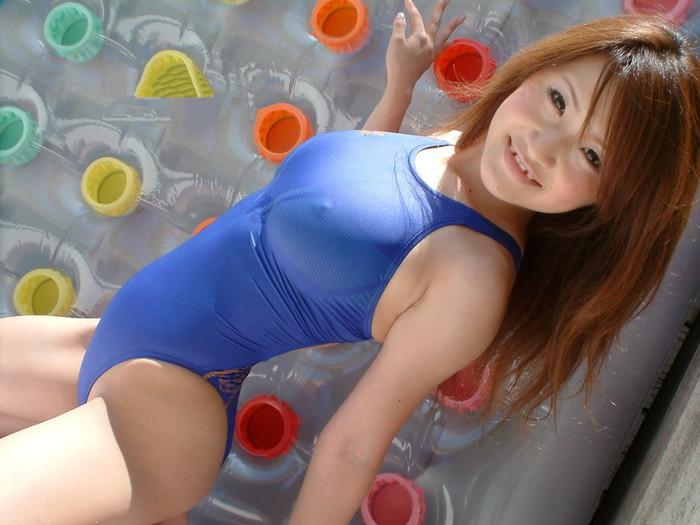 【競泳水着エロ画像】エロすぎ注意!これが競泳用の水着だとは思えない卑猥さww
