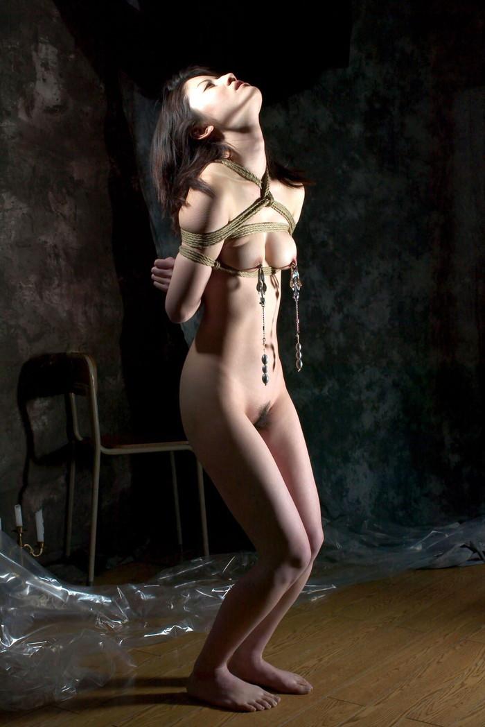 【SM緊縛エロ画像】拘束されて自由を奪われた女を見るとムズムズするよな!? 25