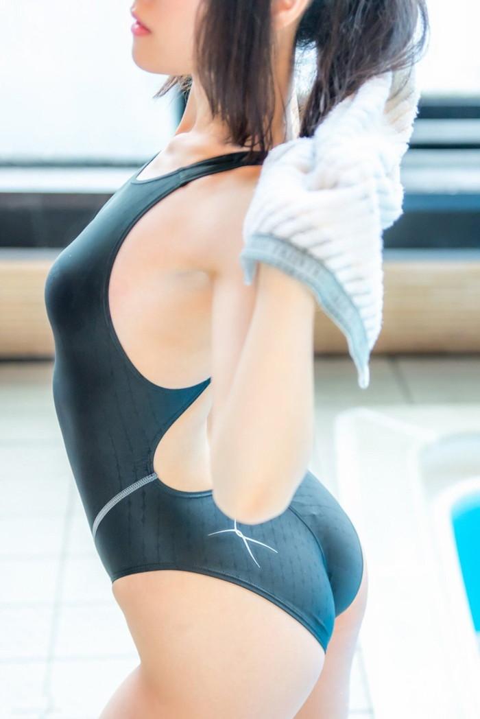 【競泳水着エロ画像】競泳用とは言うけれど…こんな卑猥な水着、勃起するわww 08