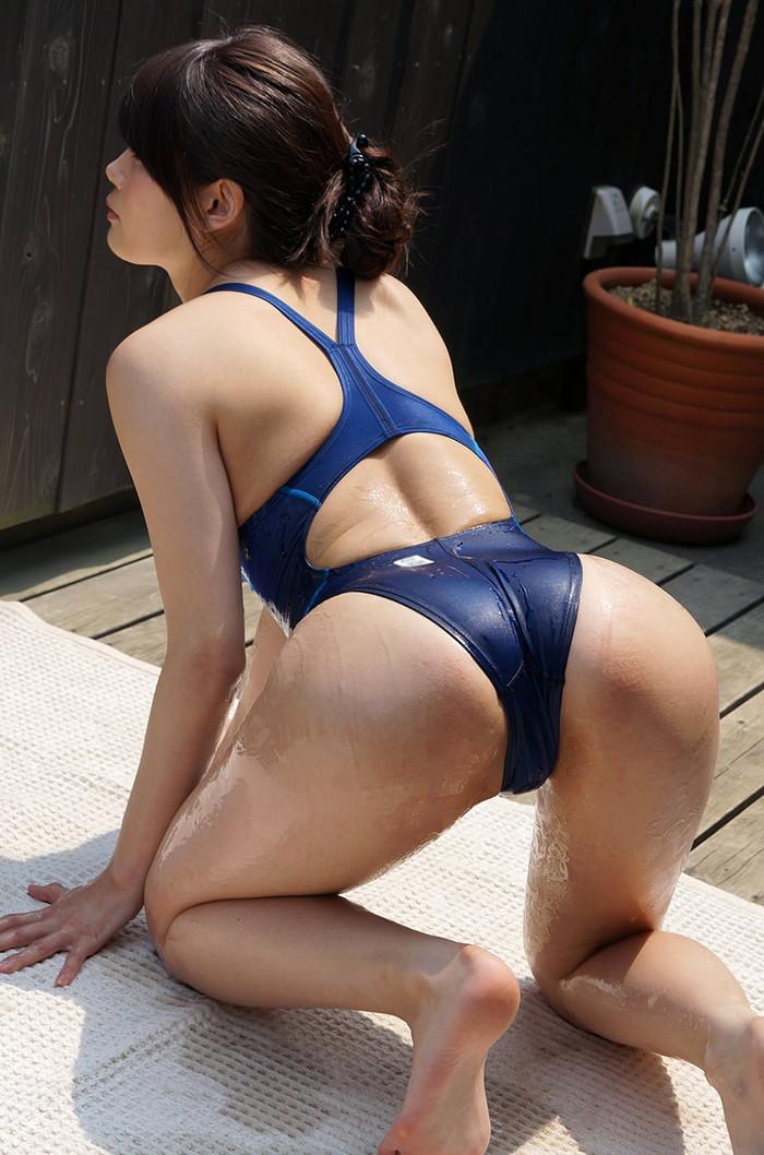【競泳水着エロ画像】競泳用とは言うけれど…こんな卑猥な水着、勃起するわww 24