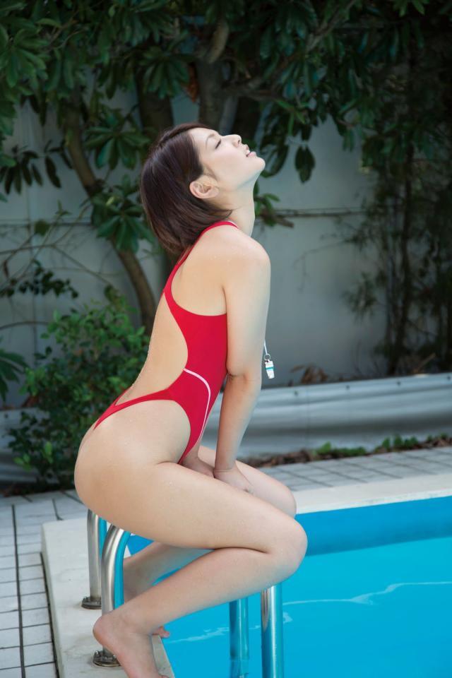 【競泳水着エロ画像】競泳用とは言うけれど…こんな卑猥な水着、勃起するわww 27