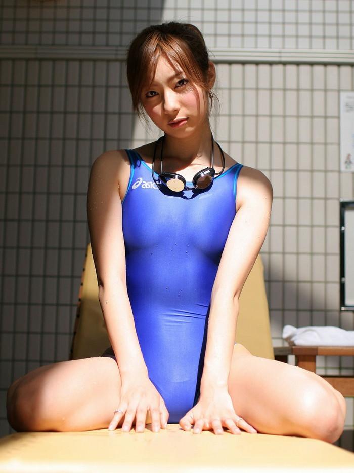 【競泳水着エロ画像】インナー無しの競泳水着って卑猥って言葉がぴったりだなwww 29