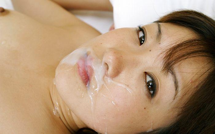 【顔射エロ画像】顔面にザーメンをぶっかけられてる女って卑猥だよな!?www 09