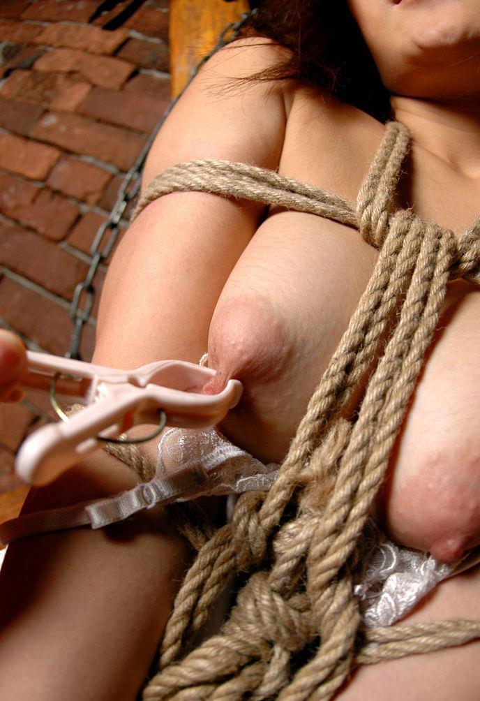 【緊縛プレイエロ画像】体を拘束されて自由を奪われた女にイタズラプレイ!? 24