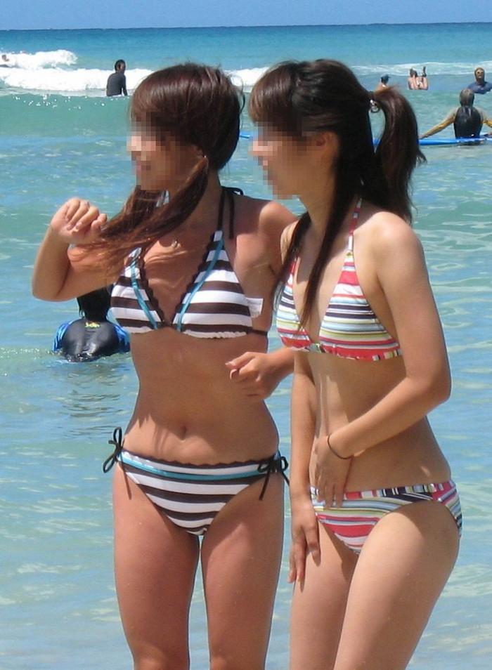 【素人水着エロ画像】素人娘たちの水着姿が無防備すぎて妄想に拍車がかかるんだがw 21