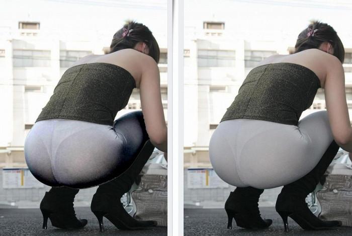 【着衣透けエロ画像】着衣がスケスケ!まるで透視しているかのような着衣の透けたまんさんw 24