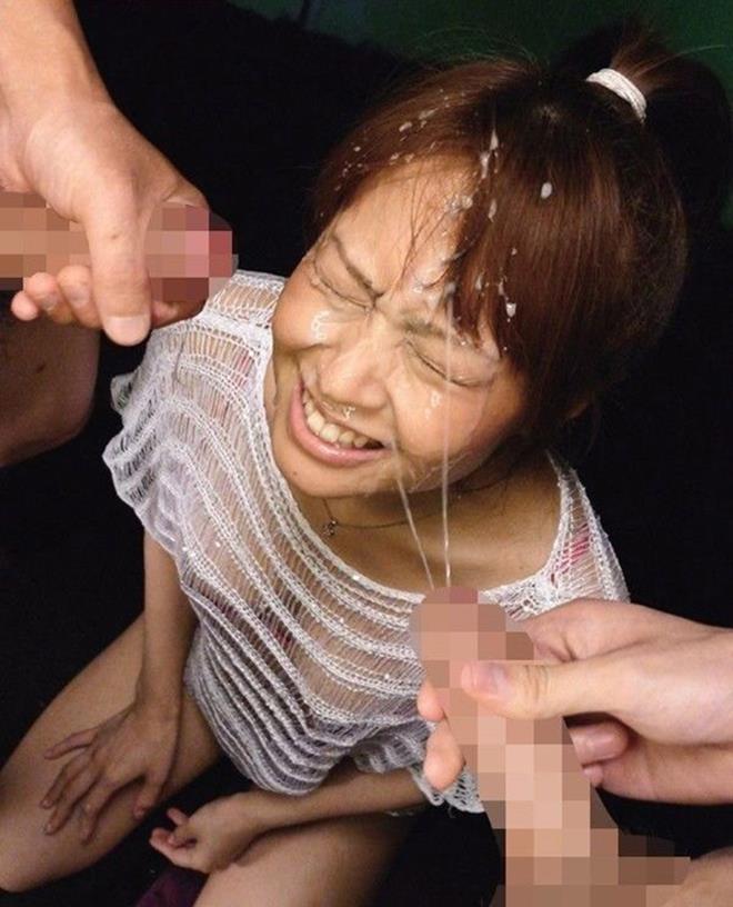 【顔射エロ画像】顔射好きにはたまらない!女の子の顔がザーメンまみれ!www 17