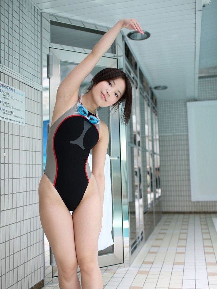 【競泳水着エロ画像】こんなにエロい水着が競泳用とは…これはマジで抜ける! 18