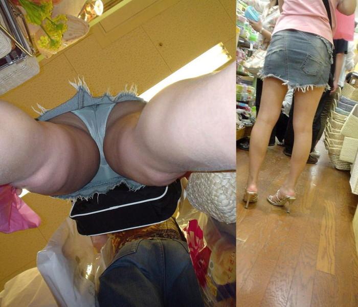 【逆さ撮りエロ画像】スカートの中身を直下の角度が盗み撮りしてみた結果www 03