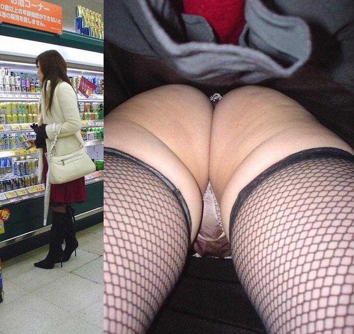 【逆さ撮りエロ画像】スカートの中身を直下の角度が盗み撮りしてみた結果www 12