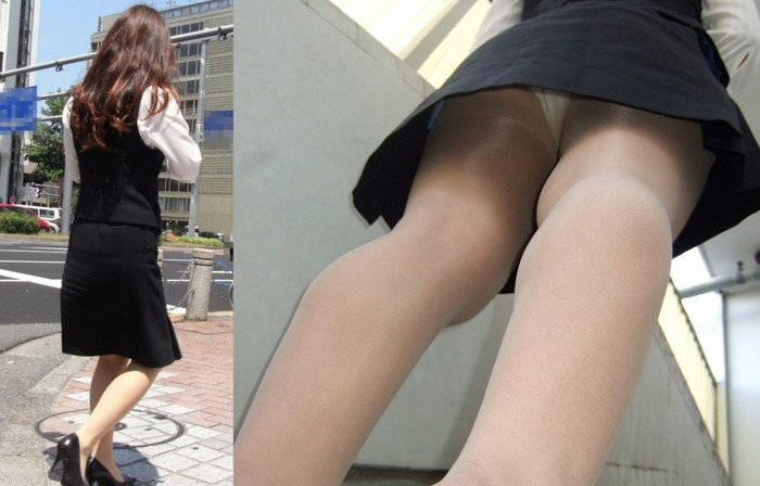 【逆さ撮りエロ画像】スカートの中身を直下の角度が盗み撮りしてみた結果www 20