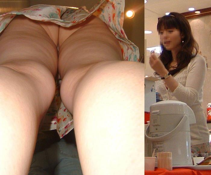【逆さ撮りエロ画像】スカートの中身を直下の角度が盗み撮りしてみた結果www 21