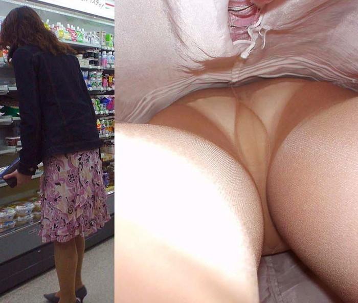 【逆さ撮りエロ画像】スカートの中身を直下の角度が盗み撮りしてみた結果www 22