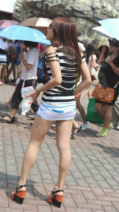 【美脚エロ画像】街中で美脚のおねーさん見つけたから撮ったったぜwww 19