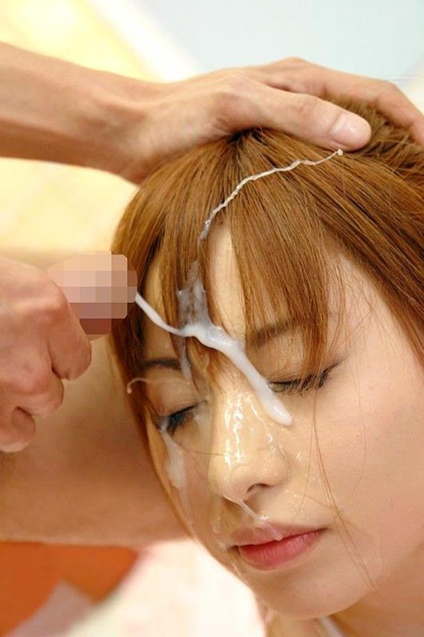【顔射エロ画像】顔面をザーメンまみれにさたれ女、卑猥すぎて草wwwww 10