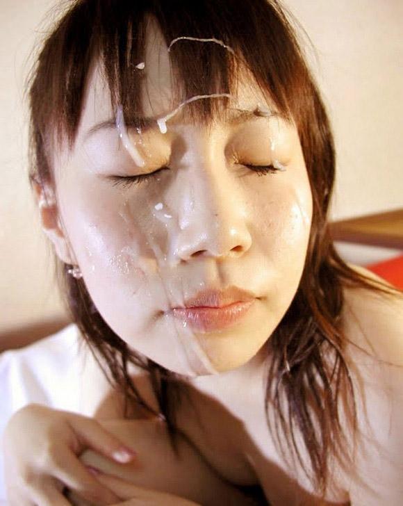 【顔射エロ画像】顔面をザーメンまみれにさたれ女、卑猥すぎて草wwwww 22