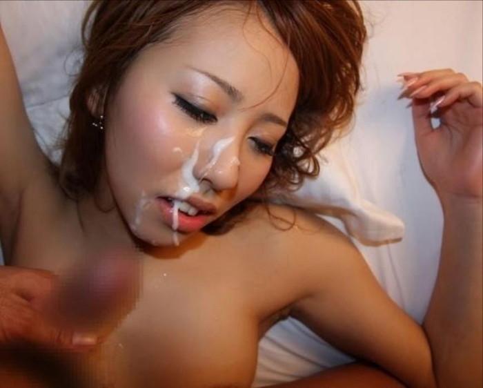 【顔射エロ画像】顔面をザーメンまみれにさたれ女、卑猥すぎて草wwwww 27