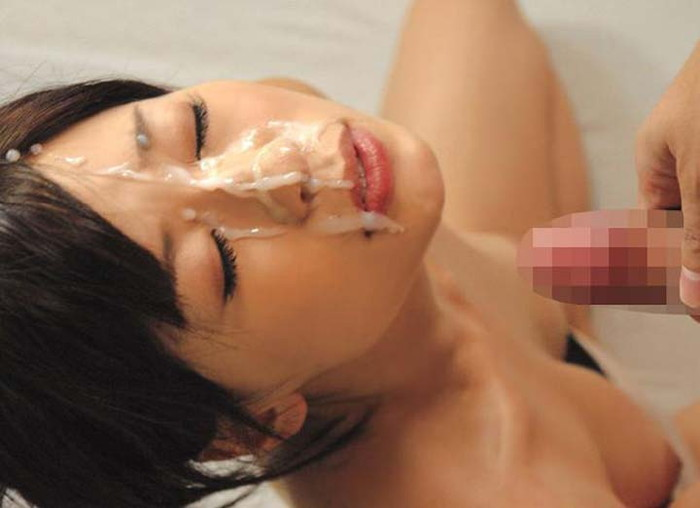 【顔射エロ画像】女の子の顔が男の欲望の汁まみれの顔射画像がエロ杉!wwww 18